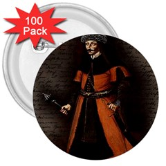 Count Vlad Dracula 3  Buttons (100 pack)