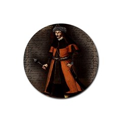 Count Vlad Dracula Rubber Coaster (Round)