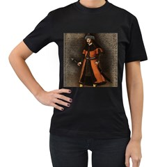 Count Vlad Dracula Women s T-Shirt (Black) (Two Sided)