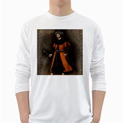 Count Vlad Dracula White Long Sleeve T-Shirts