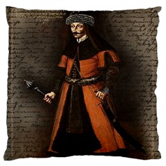 Count Vlad Dracula Large Flano Cushion Case (Two Sides)