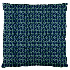 Clovers On Dark Blue Large Cushion Case (Two Sides)
