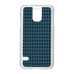 Clovers On Dark Blue Samsung Galaxy S5 Case (white)