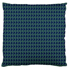 Clovers On Dark Blue Large Flano Cushion Case (One Side)