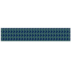 Clovers On Dark Blue Flano Scarf (Large)