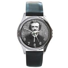 Edgar Allan Poe  Round Metal Watch