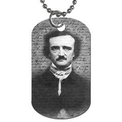Edgar Allan Poe  Dog Tag (One Side)