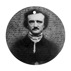 Edgar Allan Poe  Round Ornament (Two Sides)