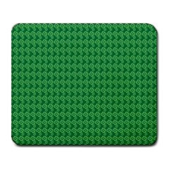 Clovers On Dark Green Large Mousepads