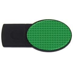 Clovers On Dark Green USB Flash Drive Oval (1 GB)
