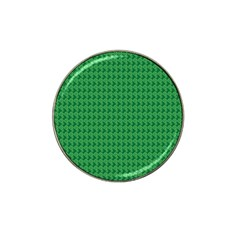 Clovers On Dark Green Hat Clip Ball Marker (10 pack)