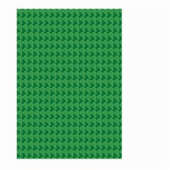 Clovers On Dark Green Large Garden Flag (Two Sides)