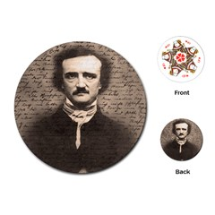 Edgar Allan Poe  Playing Cards (Round)