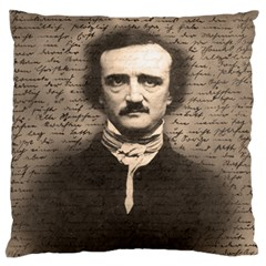 Edgar Allan Poe  Large Flano Cushion Case (one Side)