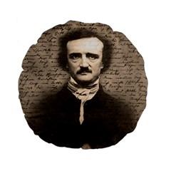 Edgar Allan Poe  Standard 15  Premium Flano Round Cushions