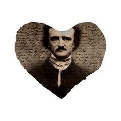 Edgar Allan Poe  Standard 16  Premium Flano Heart Shape Cushions