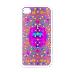 Colors And Wonderful Flowers On A Meadow Apple iPhone 4 Case (White)
