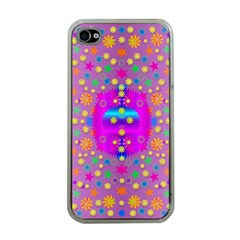 Colors And Wonderful Flowers On A Meadow Apple iPhone 4 Case (Clear)