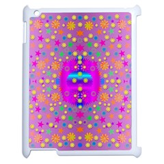 Colors And Wonderful Flowers On A Meadow Apple Ipad 2 Case (white)