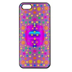 Colors And Wonderful Flowers On A Meadow Apple Iphone 5 Seamless Case (black)