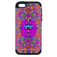 Colors And Wonderful Flowers On A Meadow Apple Iphone 5 Hardshell Case (pc+silicone)