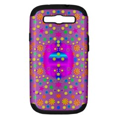 Colors And Wonderful Flowers On A Meadow Samsung Galaxy S Iii Hardshell Case (pc+silicone)