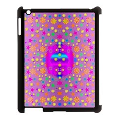 Colors And Wonderful Flowers On A Meadow Apple iPad 3/4 Case (Black)