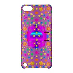 Colors And Wonderful Flowers On A Meadow Apple iPod Touch 5 Hardshell Case with Stand