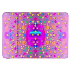 Colors And Wonderful Flowers On A Meadow Samsung Galaxy Tab 8 9  P7300 Flip Case