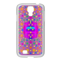 Colors And Wonderful Flowers On A Meadow Samsung Galaxy S4 I9500/ I9505 Case (white)