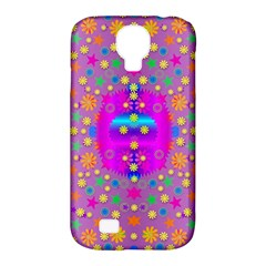 Colors And Wonderful Flowers On A Meadow Samsung Galaxy S4 Classic Hardshell Case (pc+silicone)