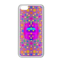 Colors And Wonderful Flowers On A Meadow Apple Iphone 5c Seamless Case (white)