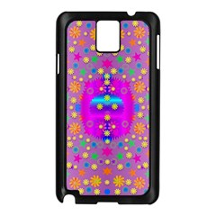 Colors And Wonderful Flowers On A Meadow Samsung Galaxy Note 3 N9005 Case (Black)