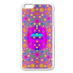 Colors And Wonderful Flowers On A Meadow Apple iPhone 6 Plus/6S Plus Enamel White Case