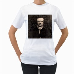 Edgar Allan Poe  Women s T-Shirt (White) (Two Sided)