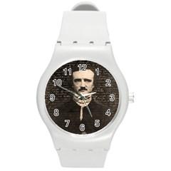 Edgar Allan Poe  Round Plastic Sport Watch (M)