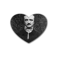 Edgar Allan Poe  Rubber Coaster (Heart)