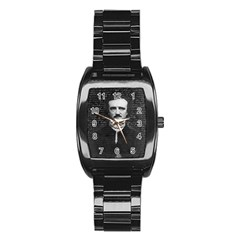 Edgar Allan Poe  Stainless Steel Barrel Watch