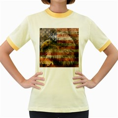 Vintage Eagle  Women s Fitted Ringer T-Shirts