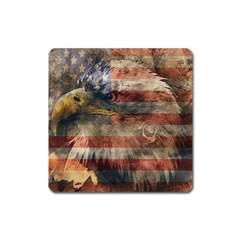 Vintage Eagle  Square Magnet
