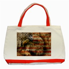Vintage Eagle  Classic Tote Bag (Red)