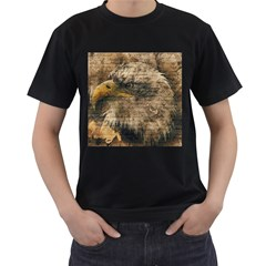 Vintage Eagle  Men s T-Shirt (Black) (Two Sided)