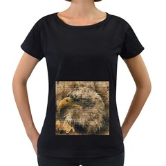 Vintage Eagle  Women s Loose-Fit T-Shirt (Black)