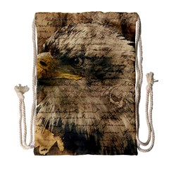 Vintage Eagle  Drawstring Bag (Large)