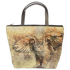 Vintage owl Bucket Bags