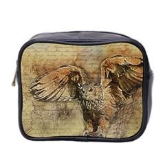 Vintage owl Mini Toiletries Bag 2-Side