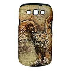 Vintage owl Samsung Galaxy S III Classic Hardshell Case (PC+Silicone)