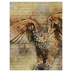 Vintage owl Drawstring Bag (Large)