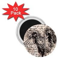 Vintage owl 1.75  Magnets (10 pack)