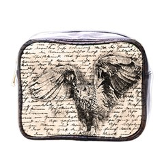 Vintage owl Mini Toiletries Bags